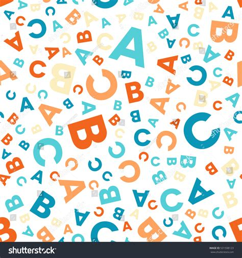 stock abc pattern seamless vector pattern different letters abc stock vector