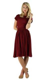 Modest dresses isabel in deep red this deep red dress