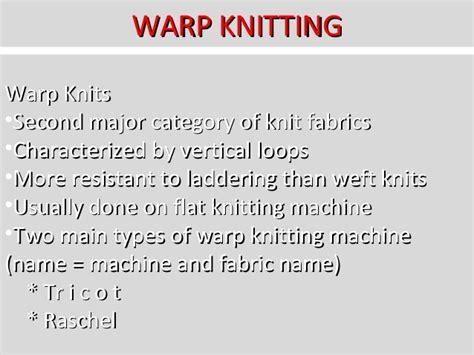 what is warp knitting knitting technology