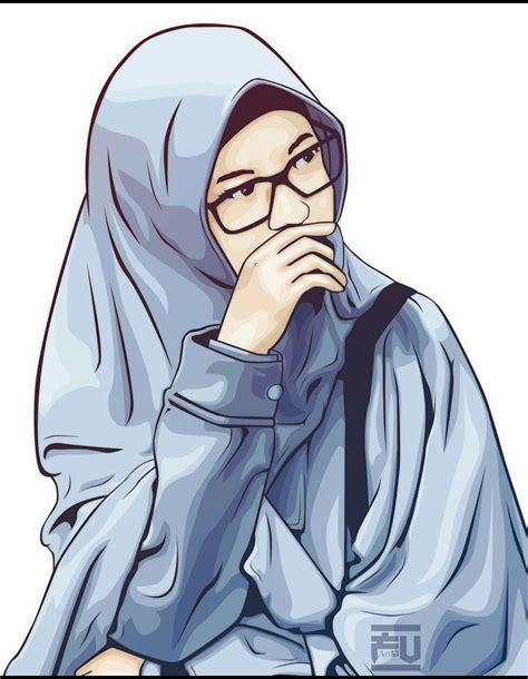 gambar anime hijab lucu