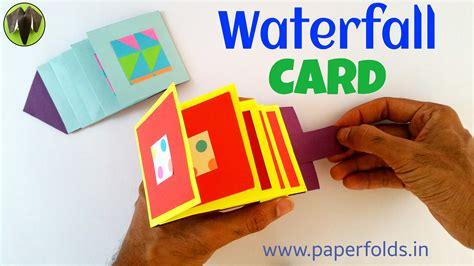 waterfall greetings card diy tutorial by paper folds