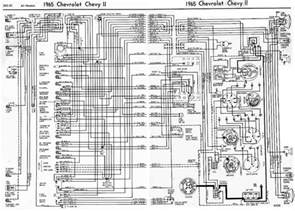 chevrolet chevy ii 1965 complete electrical wiring diagram