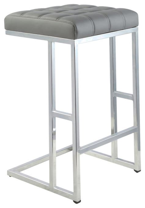 Grey Counter Height Stools by Ace 26 Quot Seat Height Counter Stool In Grey Set Of 2
