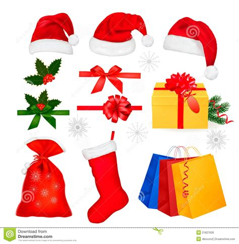 images of christmas objects set of christmas objects vector royalty free stock