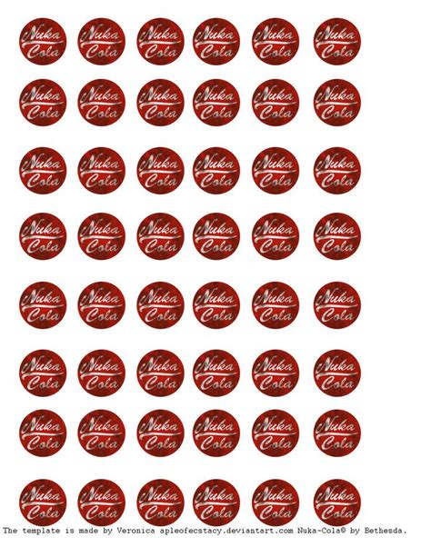 nuka cola bottle cap template nuka cola template by appleofecstacy deviantart