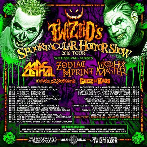 Kaos Lasvegas Black 24 twiztid kick spooktacular horror show fall tour with