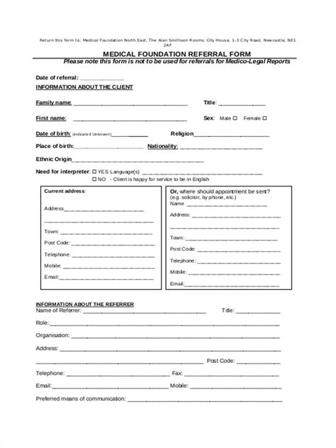 referral form 8 free documents in word pdf