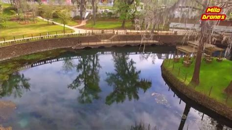 radium springs garden  albany ga drone camera footage youtube