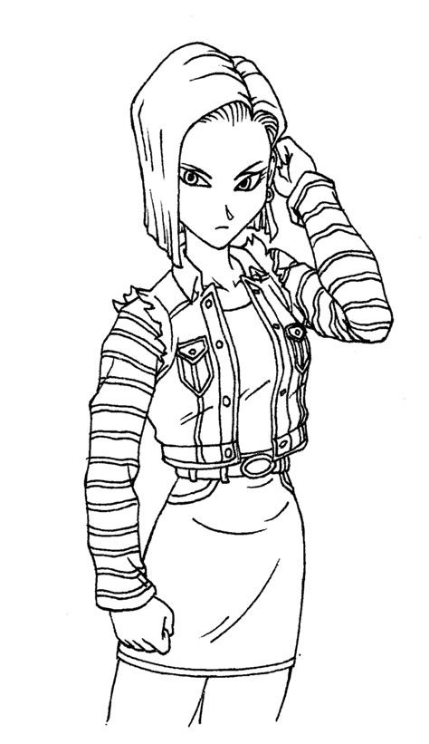 coloring book android android 18 by predaguy on deviantart