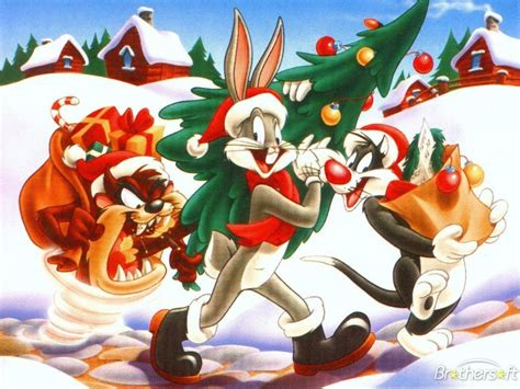 looney tunes christmas bugs bunny  wallpaper   wallpaperup