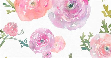 watercolor ranunculus tutorial free watercolor flower clipart ranunculus clip art and