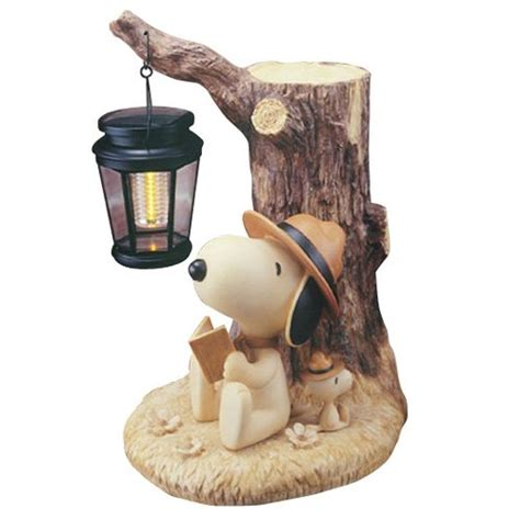 Peanuts Snoopy Dog Woodstock Figure Garden Light Beagle Peanuts Lights