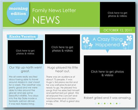 free news letter template 7 family newsletter templates free word documents