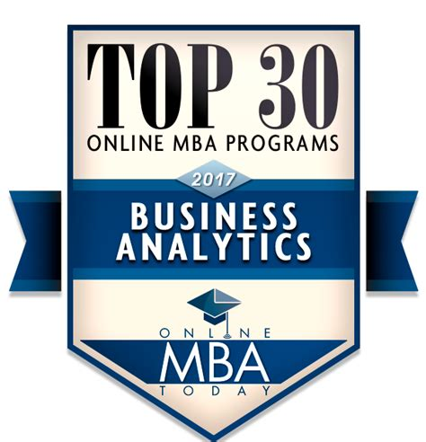 Area Mba Programs by Top 30 Mba Programs In Business Analytics 2017
