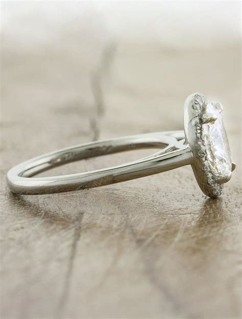 cathy modern oval halo ring ken design