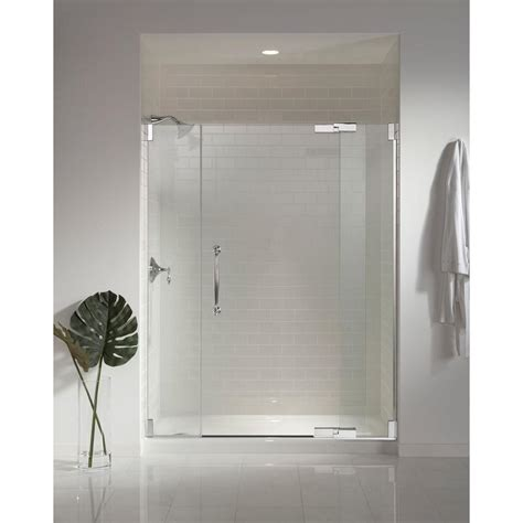 Kohler Finial 57 1 4 In X 72 1 4 In Heavy Semi Frameless Kohler Frameless Shower Doors