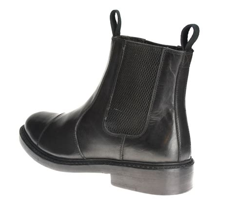 Handmade Mens Boots Uk - benchgrade 1920 mens or black leather handmade welted
