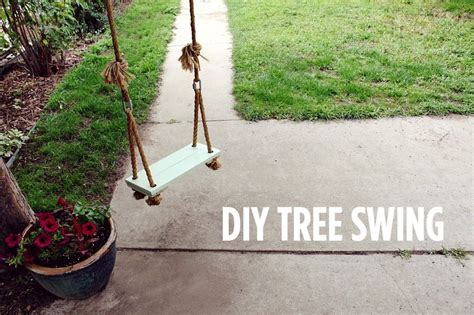 how to make swing at home make your own tree swing a beautiful mess