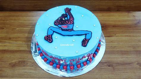 cara membuat kue ulang tahun spiderman tanpa spuit dekorasi kue ulang tahun spiderman simpel