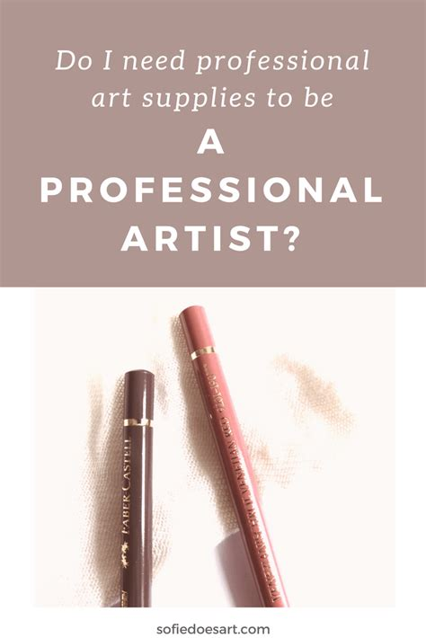how to be an professional artist do i need professional art supplies to be a professional