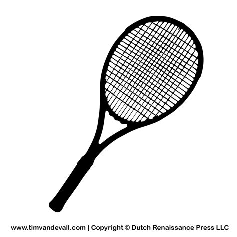 Racket Outline by Tennis Racket Clipart Clipart Suggest