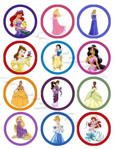 printable 12 mixed disney princess party cup cake toppers disney princess printable cupcake toppers icing ideas