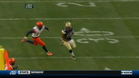 Syracuse Mba 3 2 by Pitt Adds To Score With 79 Yard Td Espn