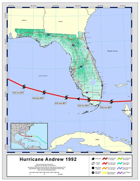 andrew map tracks by name hurricane andrew 1992