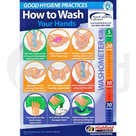 fridge layout poster how to wash your hands posters learning resources