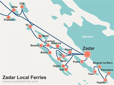 zadar islands local ferry map croatia ferries - Ferry Boat Zadar