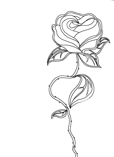 simple rose tattoo outline 25 best ideas about outline on flower