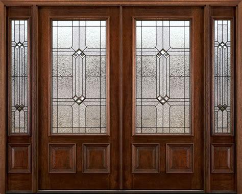 Front Door With Two Sidelights Exterior Doors With Sidelights Solid Mahogany Doors