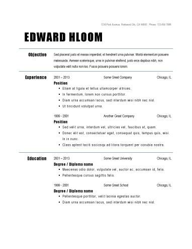 simple sle of resume format basic resume outline template best professional resumes letters templates for free