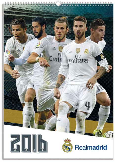 Calendario R Madrid Real Madrid 2016 Wall Calendar Calendar Club