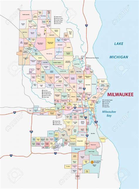 milwaukee on map map of milwaukee neighborhoods milwaukee neighborhood