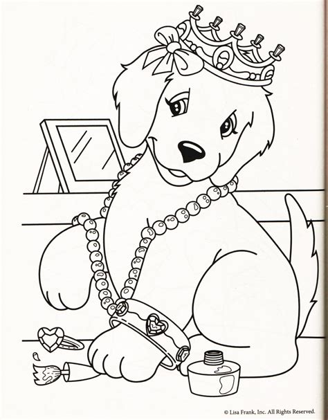 Lisa Frank Dog Coloring Pages | is this dog really painting her nails lisa frank party