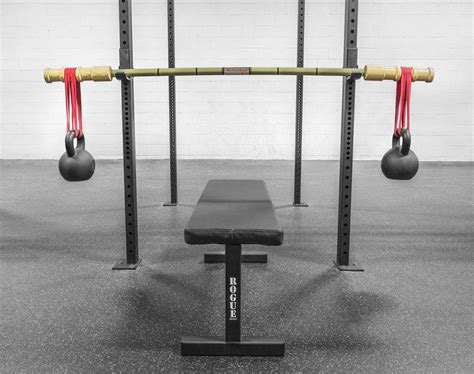 bamboo bench press bar bandbell bars earthquake bamboo barbell rogue fitness