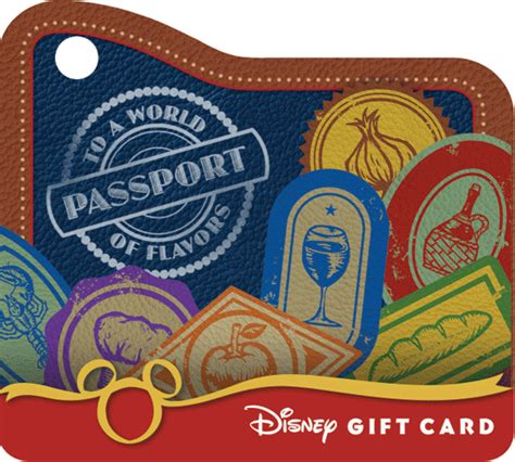 Can You Link Disney Gift Cards To Magic Band - disney gift card is your passport to a world of flavors at epcot s food wine