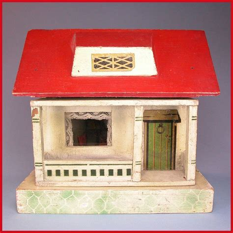 doll house roof german wooden red roof dollhouse 1920s 1 2 quot scale from curleycreekantiques on ruby lane