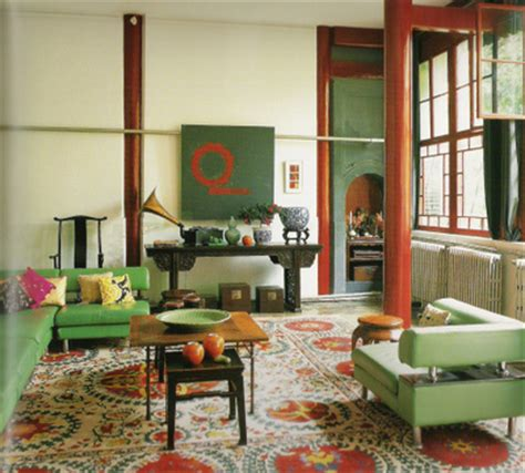 green and red living room modern mix in beijing red green living room by jehanne