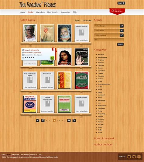 Design Online Library | website design for an online library management system on