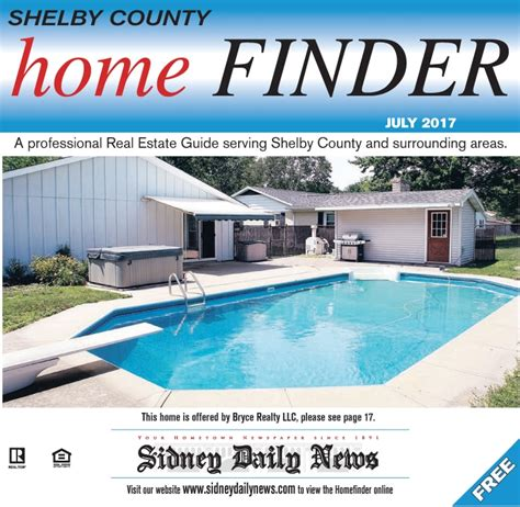 shelby co homefinder july 2017 sidney daily news