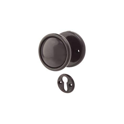 Plastic Door Knobs by Mortice Door Knob Black Plastic Ironmongerydirect