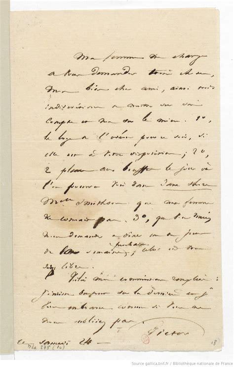 Exemple De Lettre Ouverte Victor Hugo Lettre De Victor Hugo Samedi 24 Novembre 1827 Manuscrit Autographe