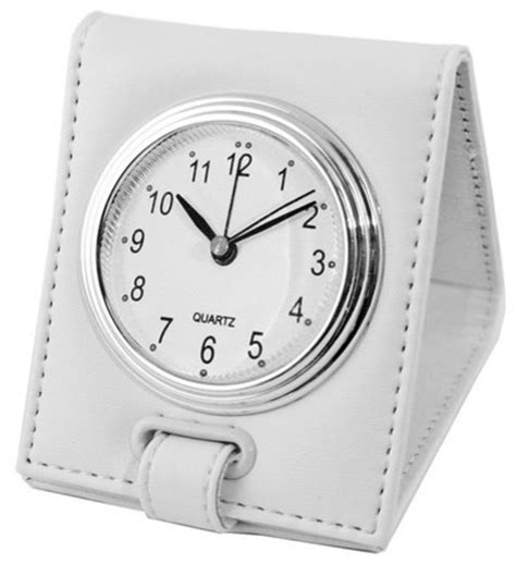 folding alarm clock white contemporary alarm clocks by natico