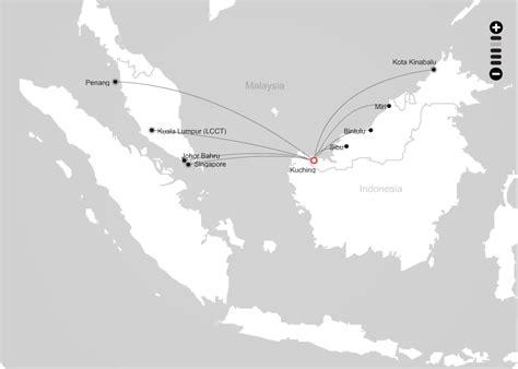 airasia rute airasia route map from kuching