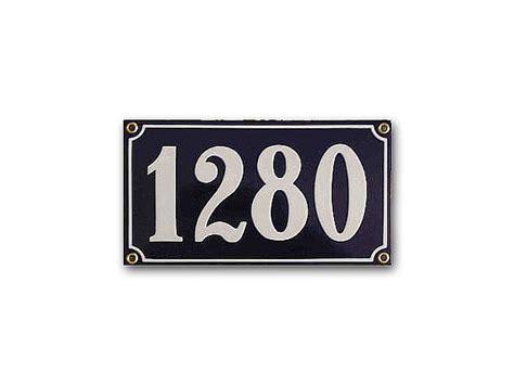 Hausnummer Weiß Metall by Gro 223 Es Metall Emaille Schild Hausnummer Mit 4 Zeichen