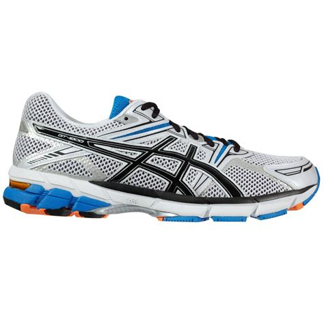 mens running sneakers asics gt 1000 s running shoe white