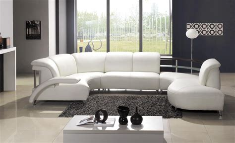 White Leather Sectional Sofa by Modern White Leather Sectional Sofa
