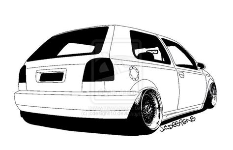 stanced cars drawing stanced vw golf mk4 car interior design